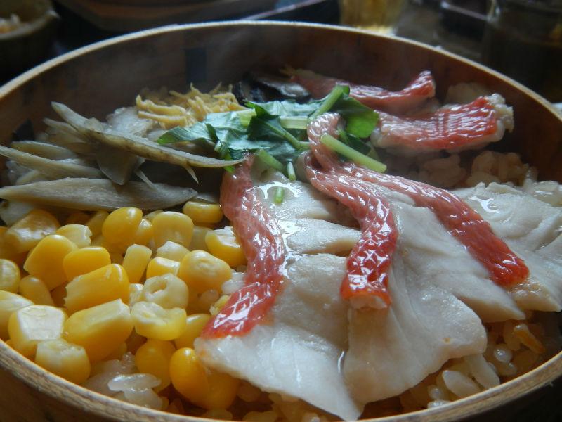 金目鯛の蒸篭蒸し