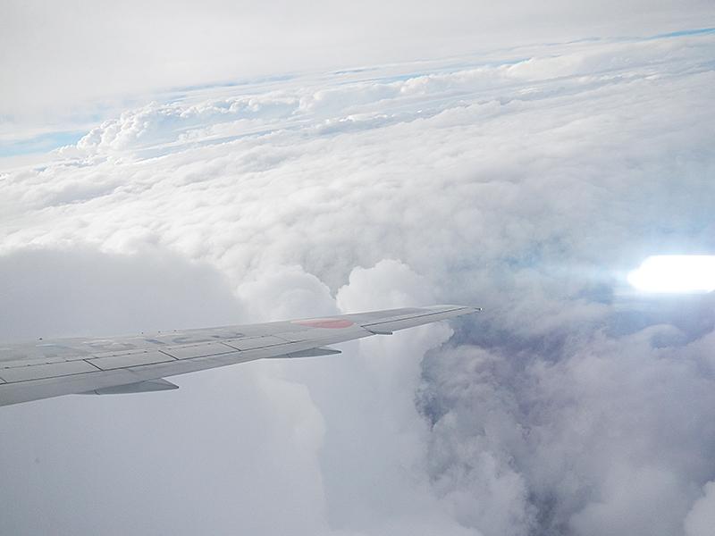 ハワイからの帰路 飛行機からの景色