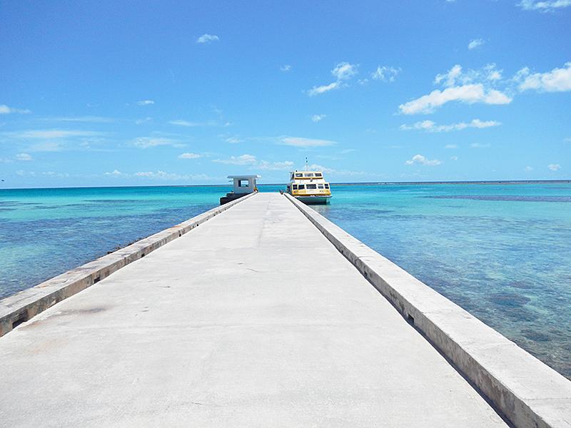 マニャガハ島 桟橋