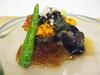 水茄子の冷製賽の目トリュフジュレ